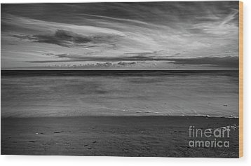 Wood Print featuring the photograph Calming Seas by Linda Lees
