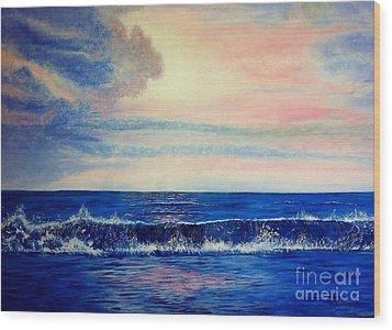 Calming Wave Wood Print