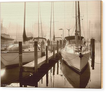 Wood Print featuring the photograph Calmly Docked by Brian Wallace