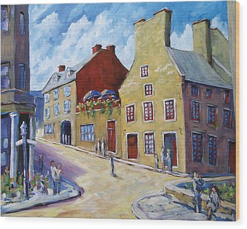 Calvet House Old Montreal Wood Print by Richard T Pranke