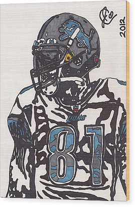 Calvin Johnson Jr 3 Wood Print by Jeremiah Colley