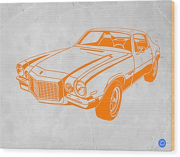 Camaro Wood Print by Naxart Studio