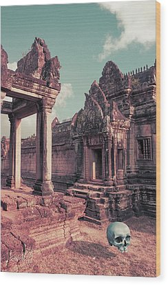 Cambodian Blue Wood Print