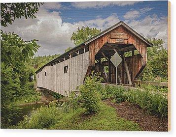Cambridge Junction Bridge Wood Print