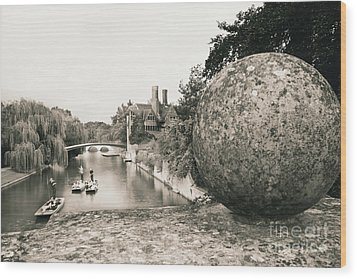 Wood Print featuring the photograph Cambridge Punting  by Eden Baed