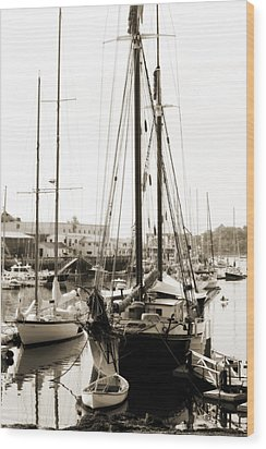Wood Print featuring the photograph Camden Ships by Linda Olsen