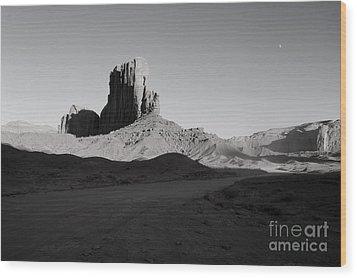 Camel Butte In Monument Valley Utah Wood Print by Julia Hiebaum