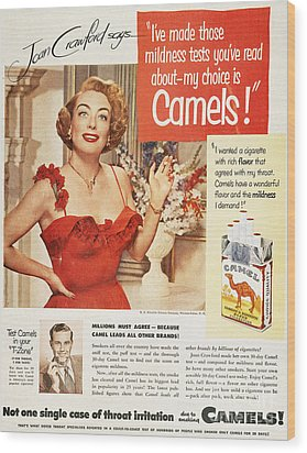 Camel Cigarette Ad, 1951 Wood Print by Granger