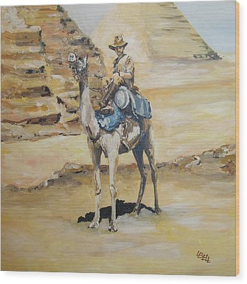 Camel Corp At Ease Wood Print by Leonie Bell