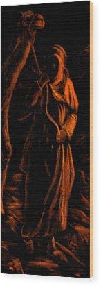Camel Herder Wood Print