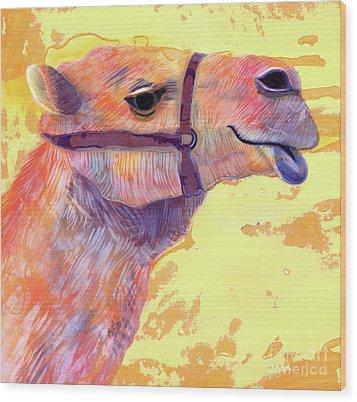 Camel Wood Print by Jane Tattersfield