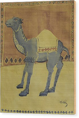 Camel With Diamonds Wood Print