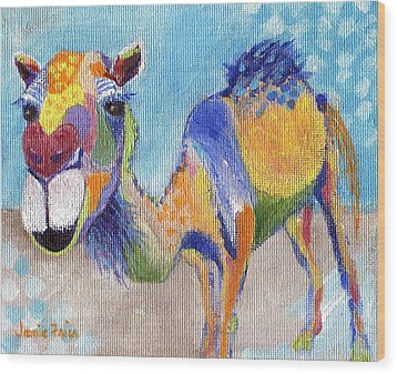 Wood Print featuring the painting Camelorful by Jamie Frier