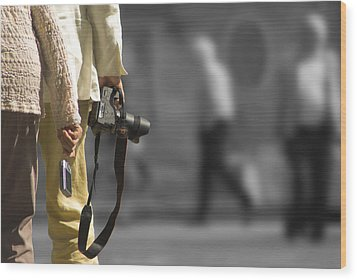 Cameras Unholstered Wood Print by Hazy Apple