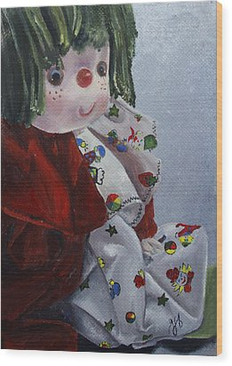 Wood Print featuring the painting Camijocamillecalokado by Jane Autry