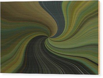 Camo Twist Wood Print by Joshua Sunday