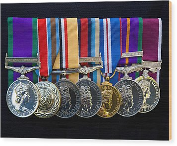 Campaign Medals Wood Print by Peter Jarvis