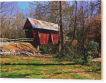 Campbell's Covered Bridge Est. 1909 Wood Print