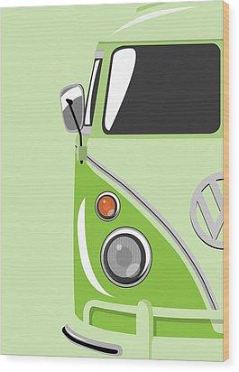 Camper Green Wood Print by Michael Tompsett