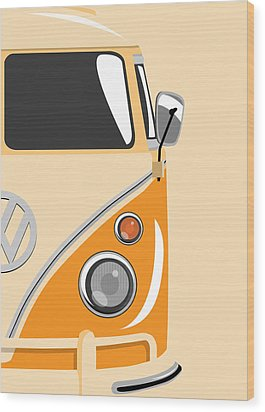 Camper Orange 2 Wood Print by Michael Tompsett
