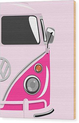 Camper Pink 2 Wood Print by Michael Tompsett