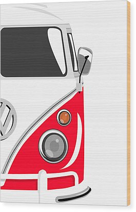 Camper Red 2 Wood Print by Michael Tompsett