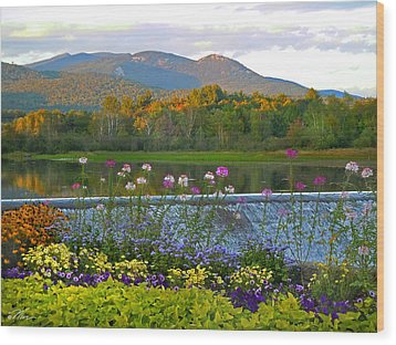 Campton Pond Campton New Hampshire Wood Print by Nancy Griswold
