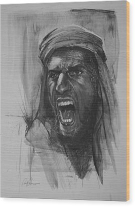 Can Anyone Speak Pashto Wood Print by Paul Autodore