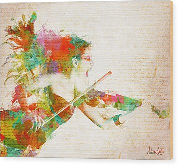 Can You Hear Me Now Wood Print by Nikki Smith