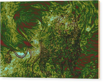 Can You See Me Wood Print by Evelyn Patrick