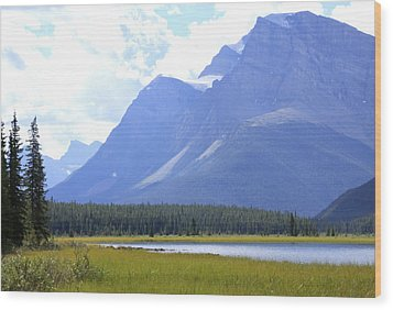 Canadian Mountains Wood Print by Catherine Alfidi
