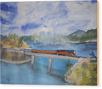 Canada Railway Wood Print