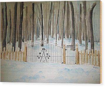 Canada The Grove  Wood Print by Elvira Ingram