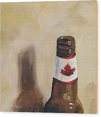 Canadian Beer Wood Print