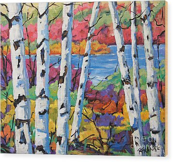 Canadian Birches By Prankearts Wood Print by Richard T Pranke