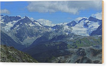 Wood Print featuring the photograph Canadian Glacier Summer Time by Walter Fahmy