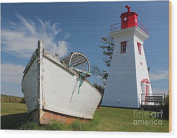 Canadian Maritimes Lighthouse Wood Print