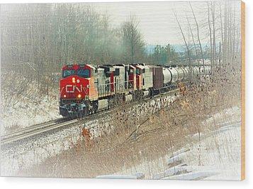 Canadian National Railway Vignette Wood Print