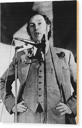 Canadian Prime Minister Pierre Trudeau Wood Print by Everett