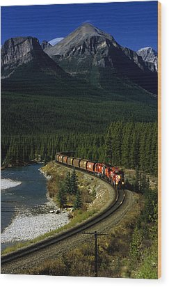 Canadian Railroad Wood Print by Susan  Benson