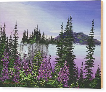 Canadian Sunrise Wood Print by David Lloyd Glover