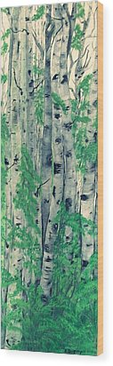 Wood Print featuring the painting Canadian White  Poplar by Sharon Duguay