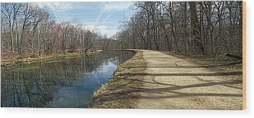 Canal And Towpath - Great Falls Park - Maryland Wood Print by Brendan Reals