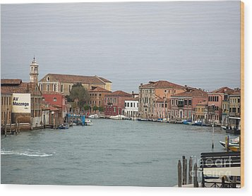 Canal Of Murano Wood Print