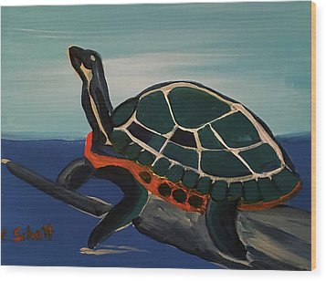 Canal Pointe Turtle Wood Print