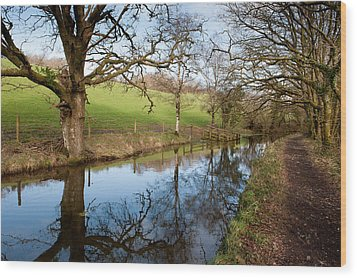 Canal Reflections Wood Print
