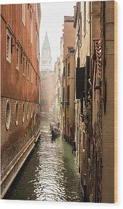 Canale Ponte De Lovo Wood Print
