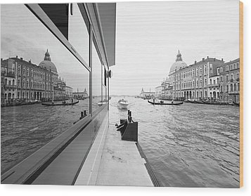 Canale Riflesso Wood Print by Marco Missiaja