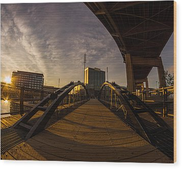 Wood Print featuring the photograph Canalside Dawn No 5 by Chris Bordeleau