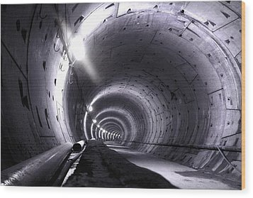 Cananda Line Tunnel Wood Print by Liz Towers